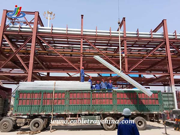 Hot Dip Galvanised Cable Trunking for Chemical Plant Construction in Shandong Province