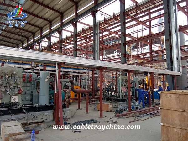 Hot Dip Galvanized Steel Cable Trunking for Chemical Plant Construction in Shandong Province