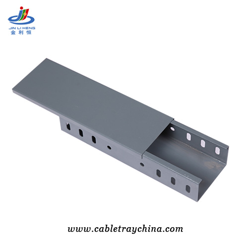 Powder Coated galvanised steel cable trunking