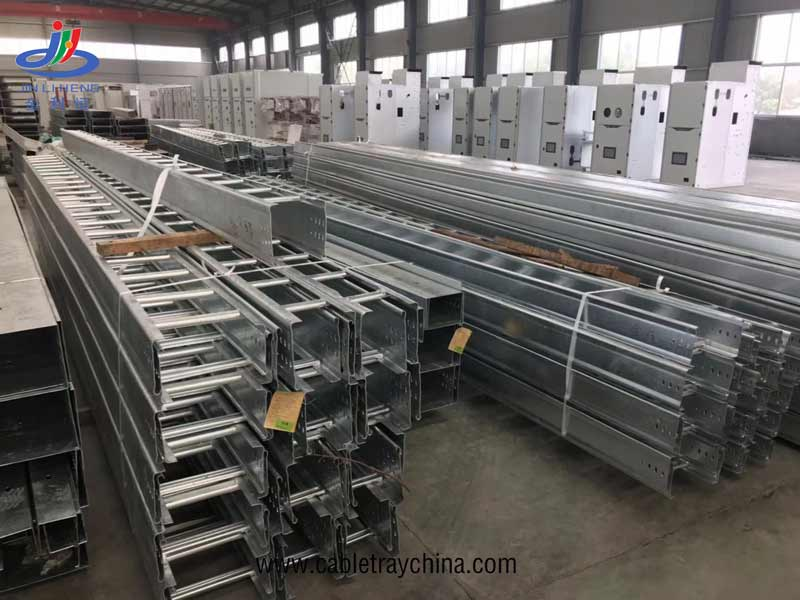 galvanized Ladder Cable Tray For Saudi Arabia Airport Engineering