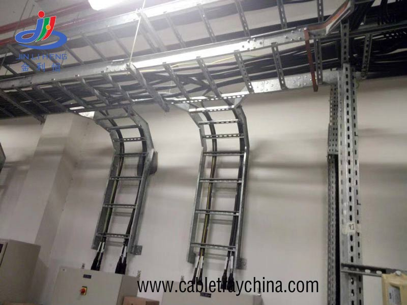 galvanized Ladder Cable Tray For Saudi Arabia Airport Engineering building