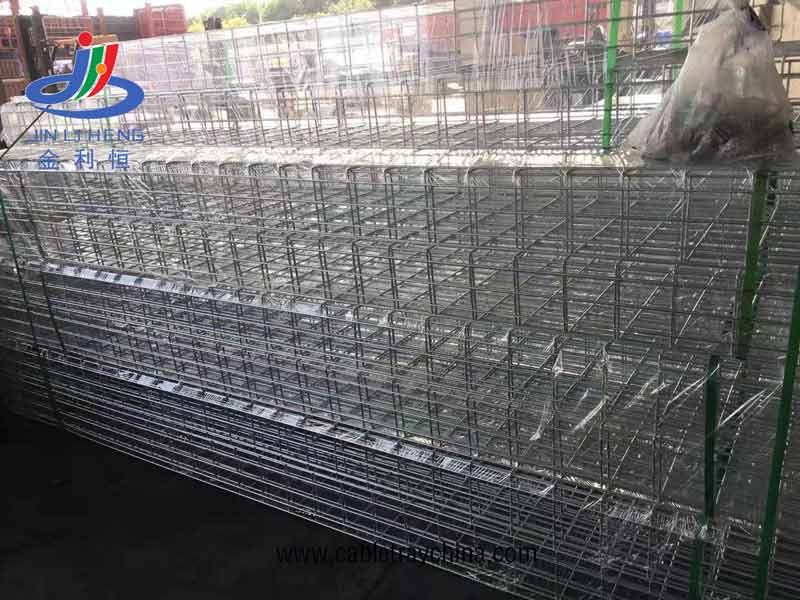 Wire mesh cable tray for paper making company